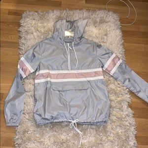Pink grey and white Windbreaker